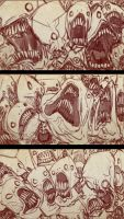 Screaming Sketches 6 by bobmeatbag