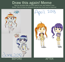 Draw this again meme :3 by ChibiChubbz