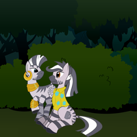 Like Zebras in the Woods by Fetchbeer