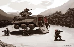 Hover APC on patrol by aaronprovost