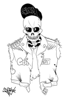 Undead Skull punk by Sparky-J
