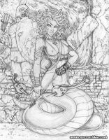 Medusa commission pencils by gb2k