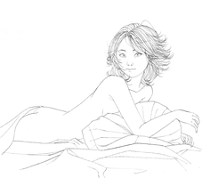 In bed with minami by Rijio