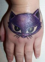Kitty tattoo by piercedpinup