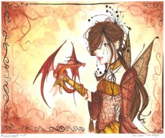 lori-ann and her dragon by dreamangelkristi