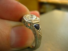 Antique style ring WIP by Jentiago