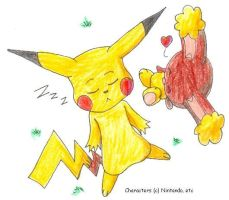 Pikachu x Buneary for Iesha by SamCyberCat