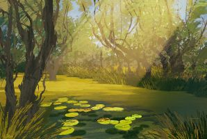 a swamp forest by O-l-i-v-i