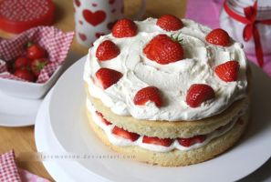 Strawberries and Cream Cake (+recipe) by claremanson