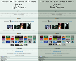 DeviantART v5 Journal CSS by angelslain