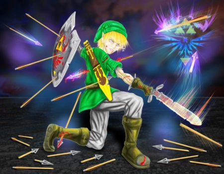 digital : Zelda Death Of Link 01 2014 by darshan2good