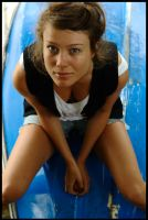 Marie - blue boat 1 by wildplaces