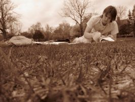 Studying Outside by flamingfish