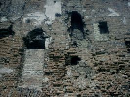 Ruins stock 11 brick wall by Finsternis-stock