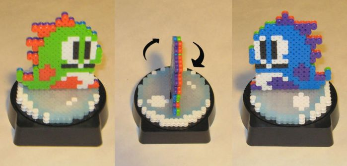 Perler Bubble Bobble Spinning Statue by Dlugo1975