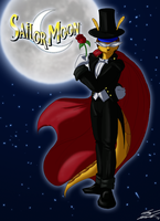 Halloween 2012, Armadillo Toughset as Tuxedo Mask by Toughset