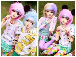 Colorful friends by SoftPoison