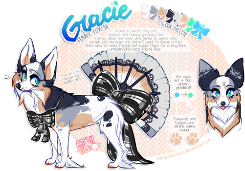 commission: gracie ref by BabyWolverines
