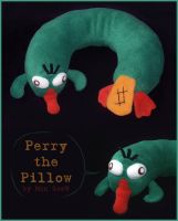 Perry the Pillow by Myszoskok