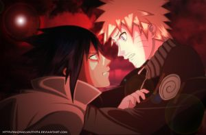 Naruto and Sasuke - I Told You, We Die Together. by EspadaZero