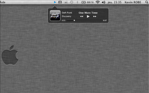 iTunes mini player OS X app by kev95570