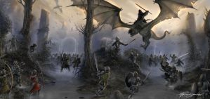 Battle of Osgiliath by bearcavestudios