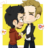 RDJ and Chris Evans by ButtMantis