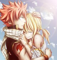Natsu and Lucy by NorthDream