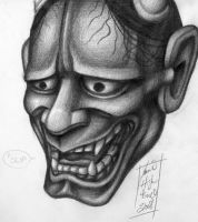 hannya mask no1 by dertodesking