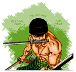 Roronoa Zoro Pixel Art by The-Old-Wolf