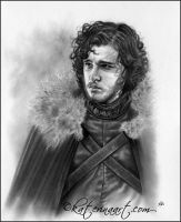 Lord Commander ( Jon Snow) by Katerina-Art