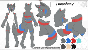 reference sheet for Humphrey Alpha wolf by TheLastRedDragon