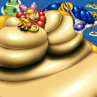 Gigantic Wendy and Gigantic Koopa Grine by RickyDemont