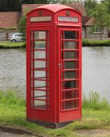 Red Telephone Box 2 by fuguestock