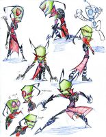 taller invader zim - color sketches by winddragon24
