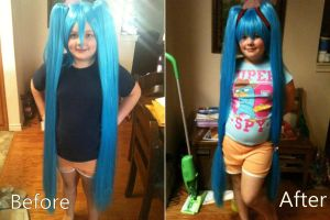 Miku Wig Styling test by itbeMacKenzie
