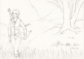Wandering the land sketch by AdriennEcsedi