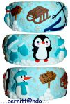 Winter Wonderland fimo bangle by cernittando