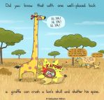 Giraffe Karate Chop by sebreg