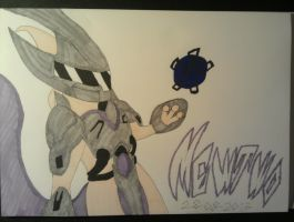 Mewtwo with Armor by ShadowGiratina11