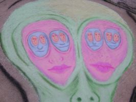 Faces within faces 3d by Chalkarts