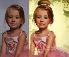Easter Little Princess...before and after by KlaraKay