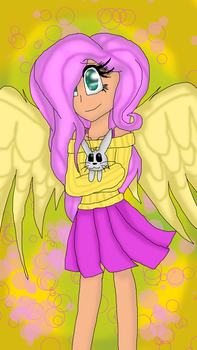 My human version of Fluttershy by Awesome-Panda123