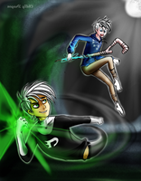Jack Frost VS Danny Phantom: Danny turned evil! by chillydragon