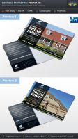 Real Estate Business Marketing Postcard by Saptarang