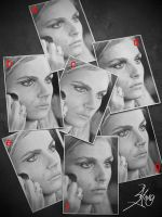Guess Which Is My Andrej Pejic's Drawing by SongYong