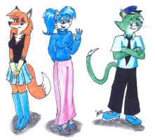 My characters in new style by Levvvar
