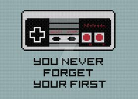 Never Forget Your First cross stitch pattern by avatarswish