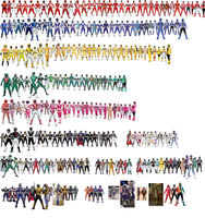 Super Sentai Collage (Goranger-Gokaiger) by AdrenalineRush1996