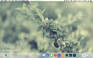 Mac OS X Mavericks: Desktop Theme by Izayaa360